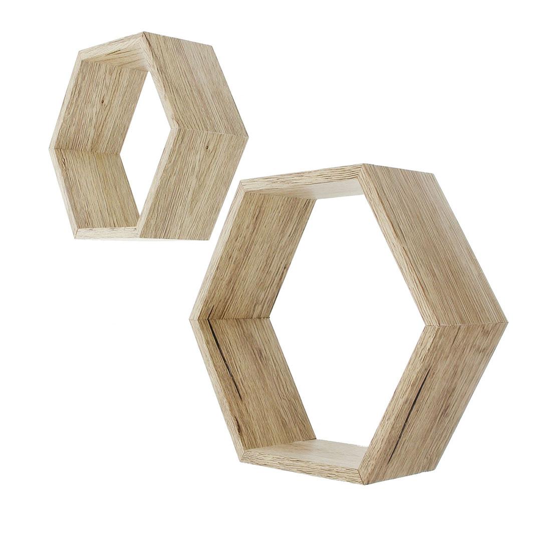 """Полки настенные """"Дуб - многоугольники"""", 2 штуки [06827], Дуб"""