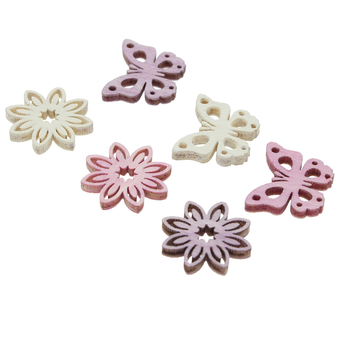 """Декоративные фигурки """"Бабочки и цветочки"""", 90 штук [06829],"""