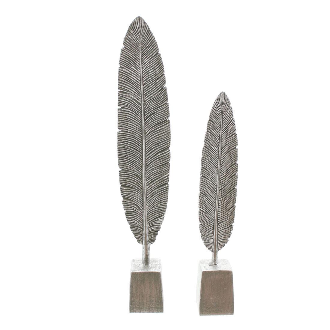 """Декоративные фигуры """"Серебряные листья"""", 2 штуки [06964],"""