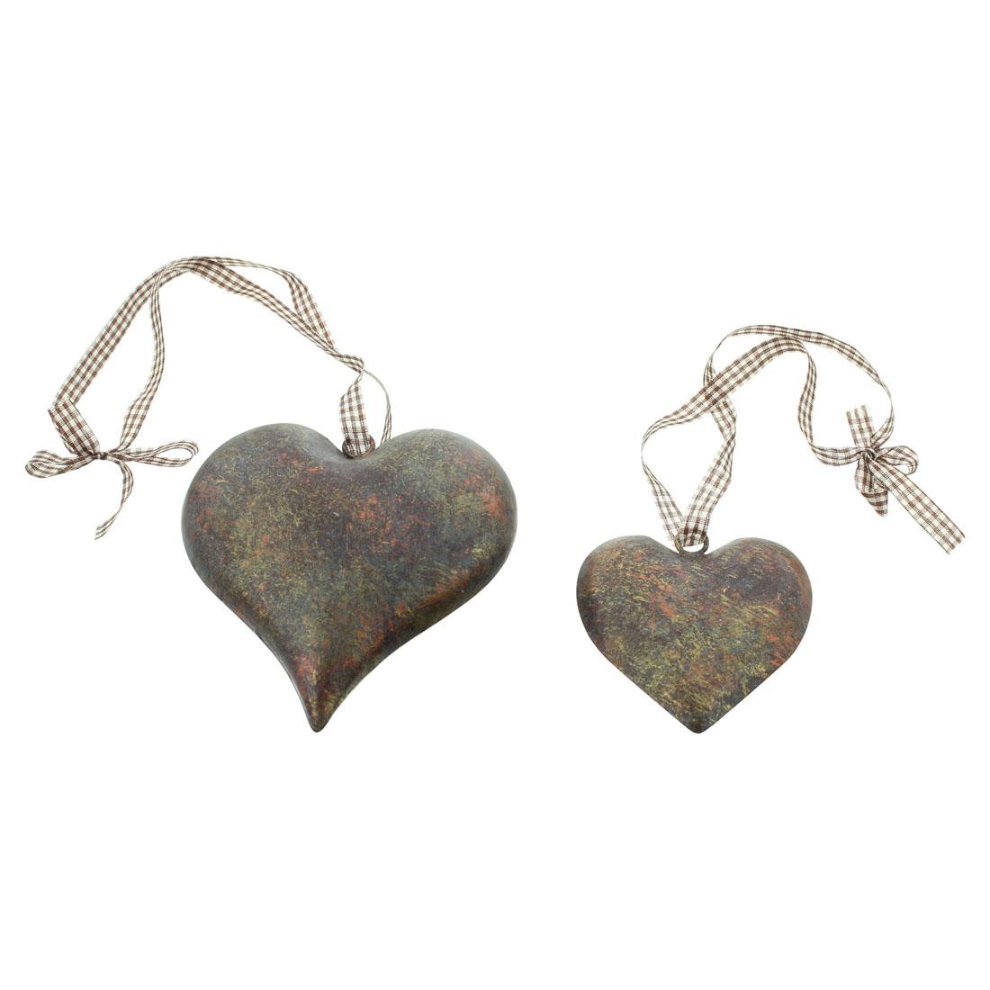 """Подвесные украшения """"Сердечки"""", 2 штуки [06997],"""
