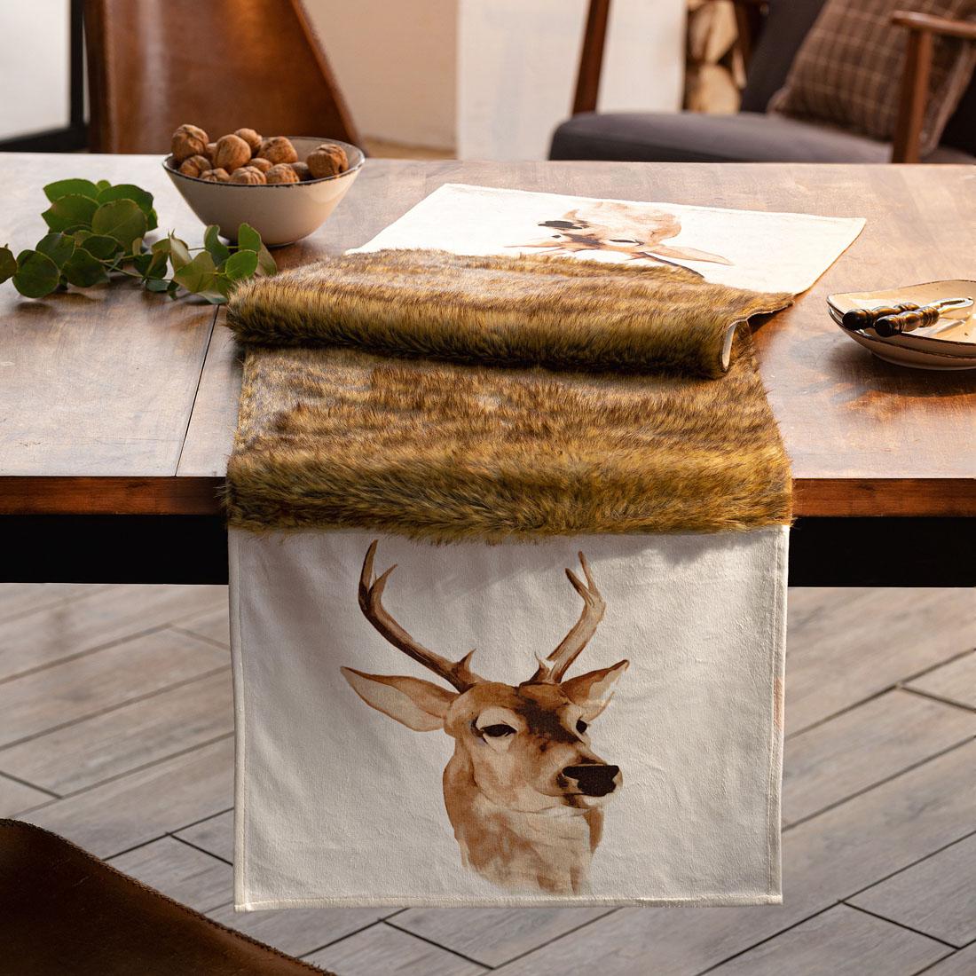"""Дорожка на стол """"Зимний олень"""" [07004],"""