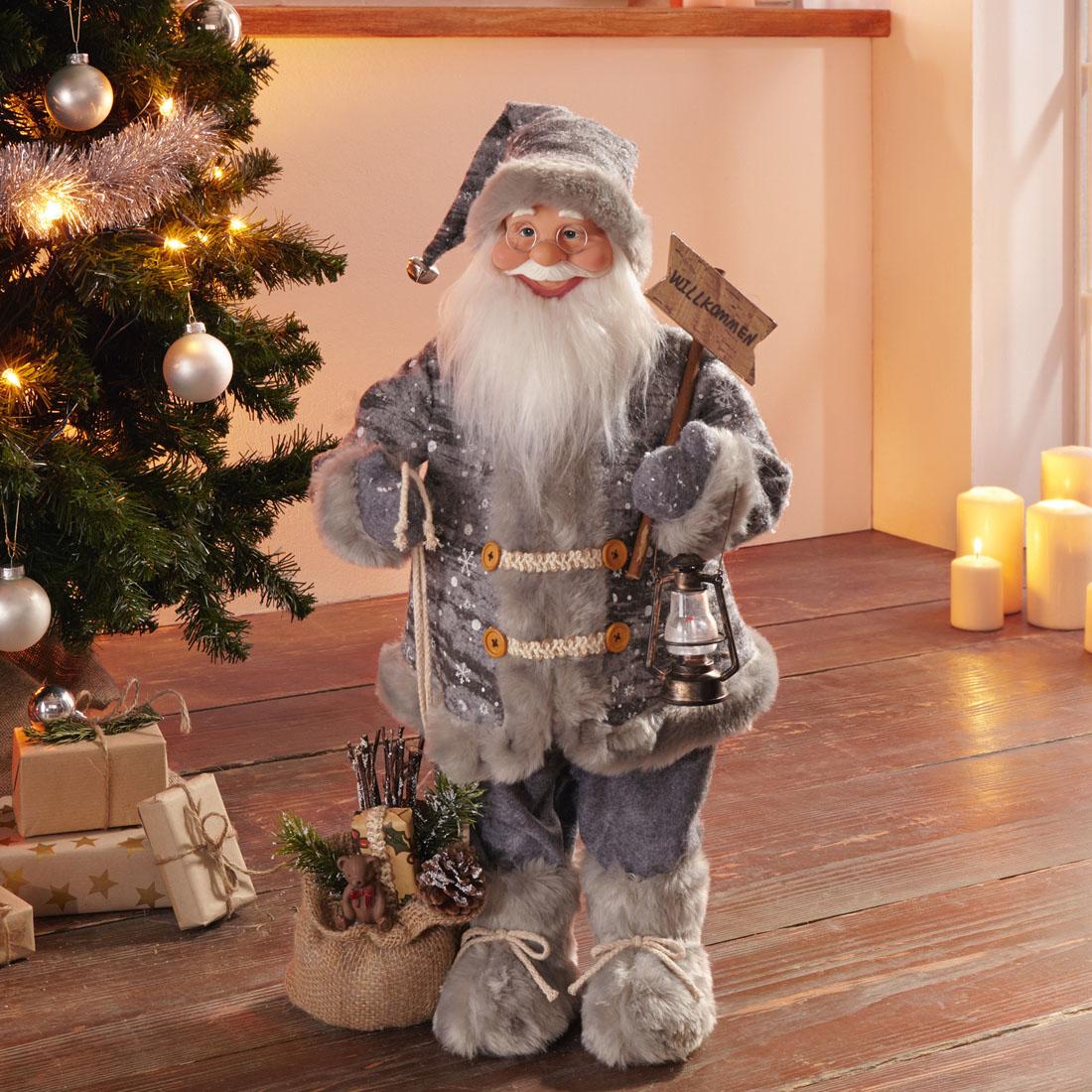 """Декоративная фигура """"Санта Клаус - добро пожаловать!"""" [07038],"""