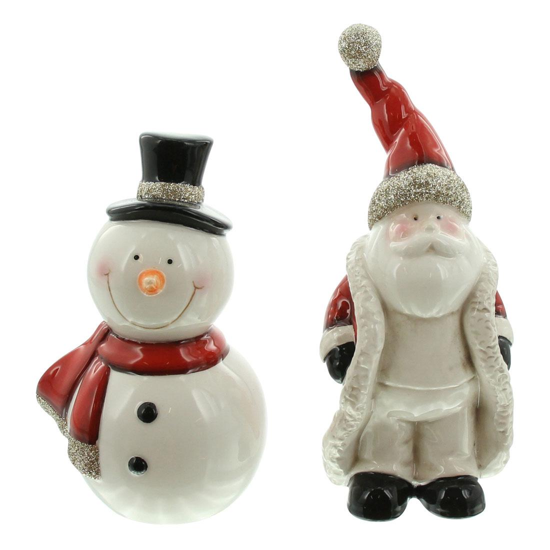 """Декоративные фигуры """"Санта и снеговик"""", 2 штуки [07039],"""