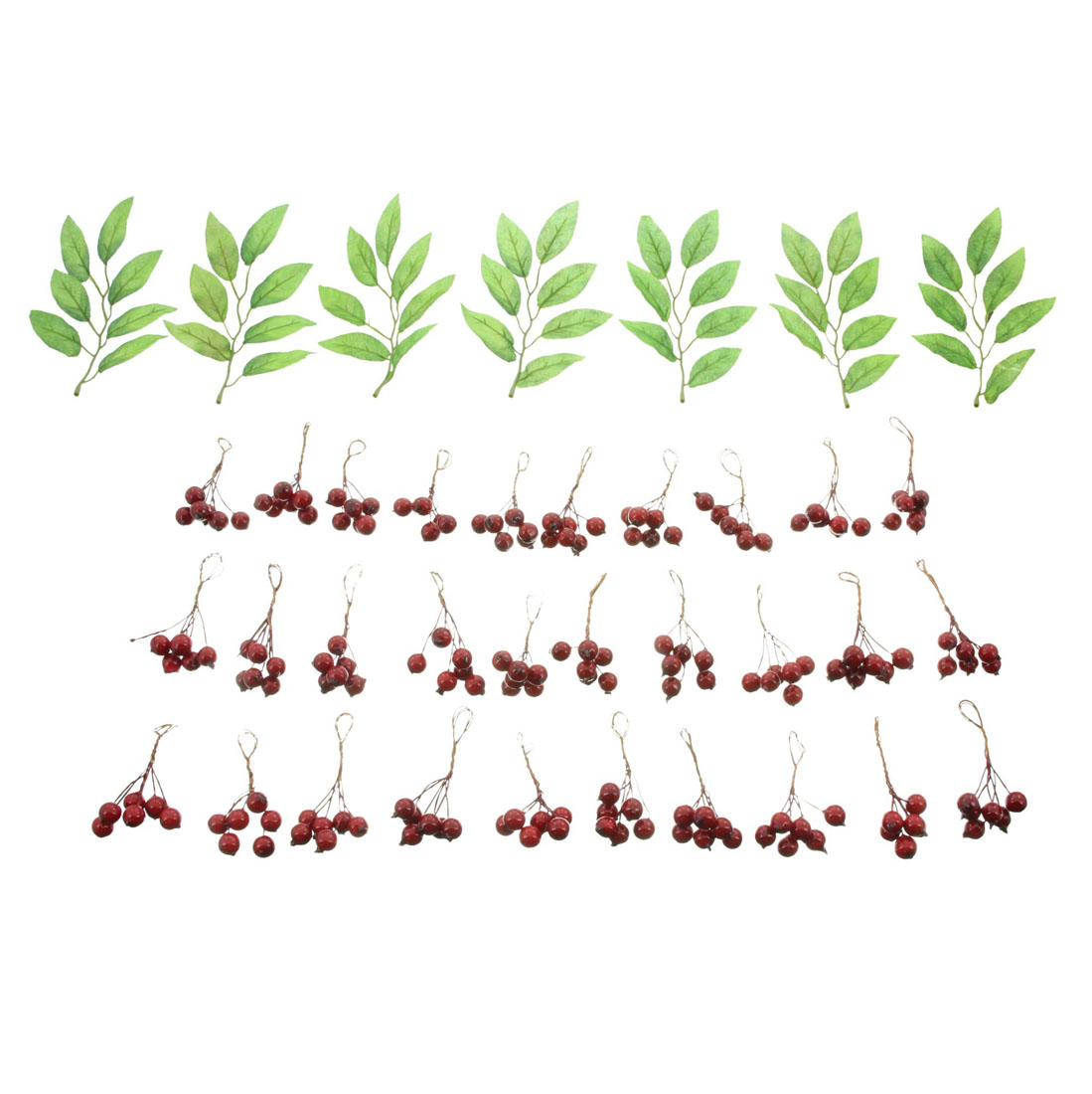 """Декоративный набор """"Красные ягоды"""", 7 штук [07065],"""