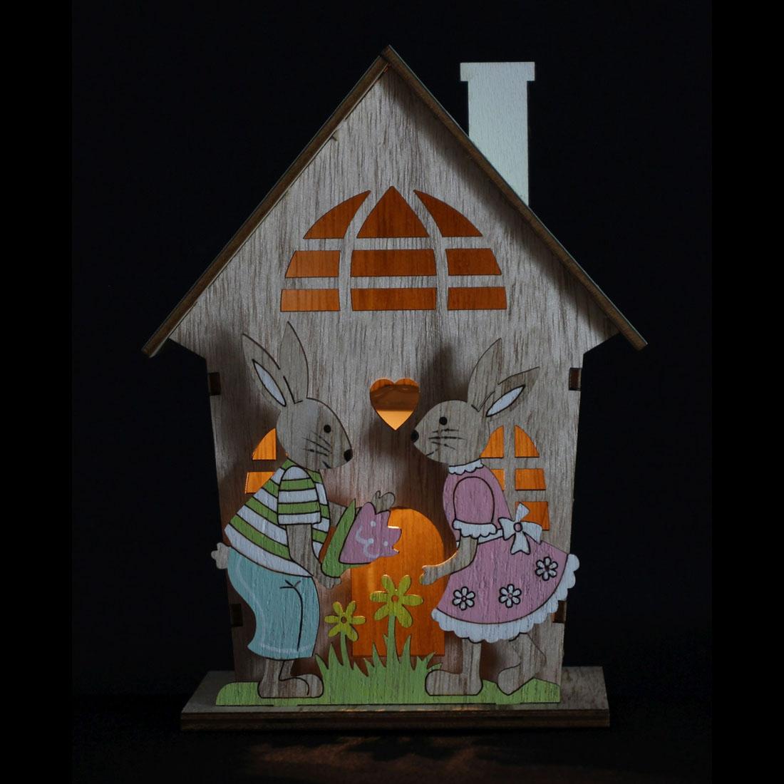 """Декоративное украшение со светодиодной подсветкой """"Пасхальный домик"""" [07204],"""