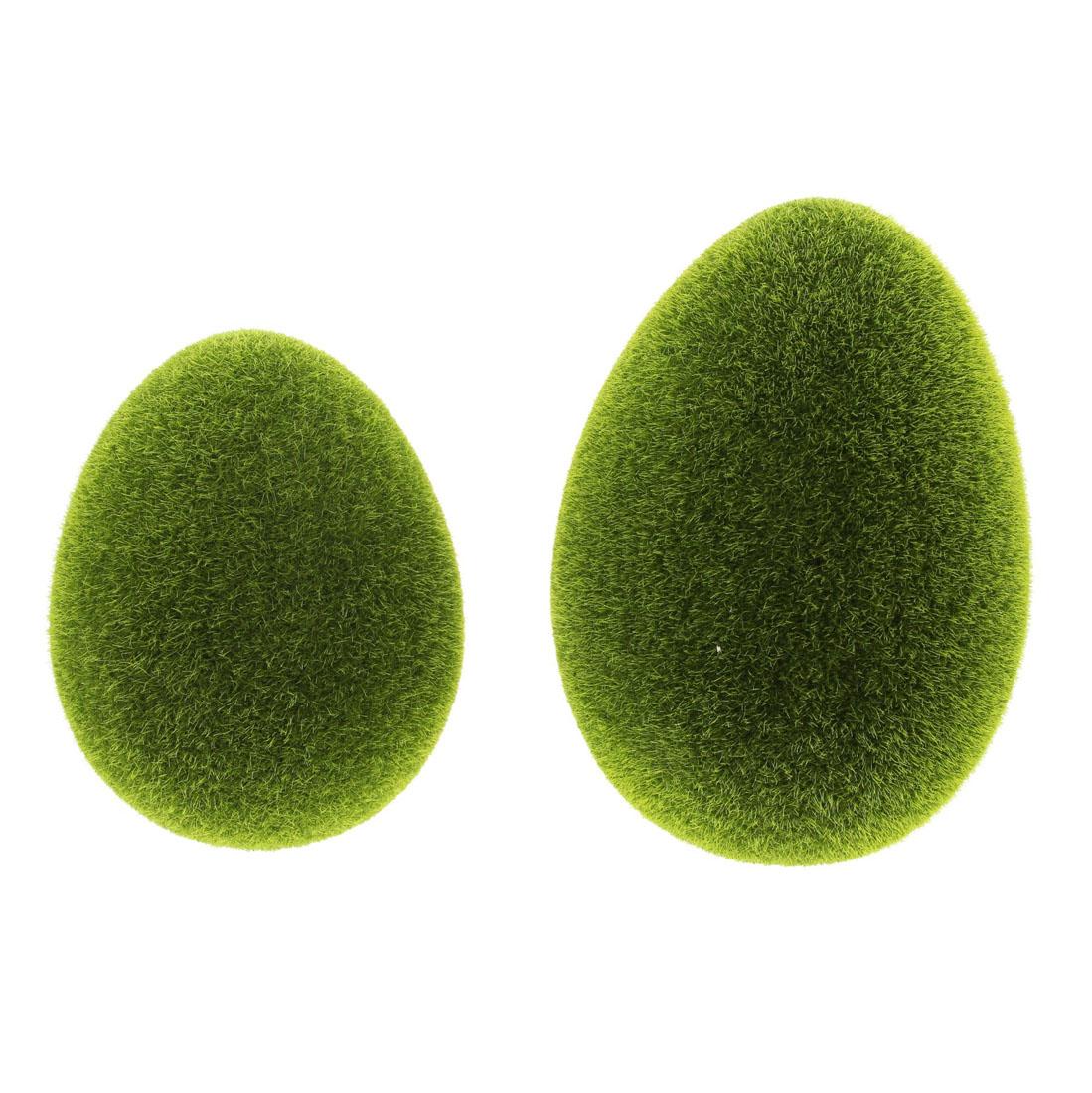 """Декоративные фигуры """"Яйца - зеленый мох"""", 2 штуки [07236],"""