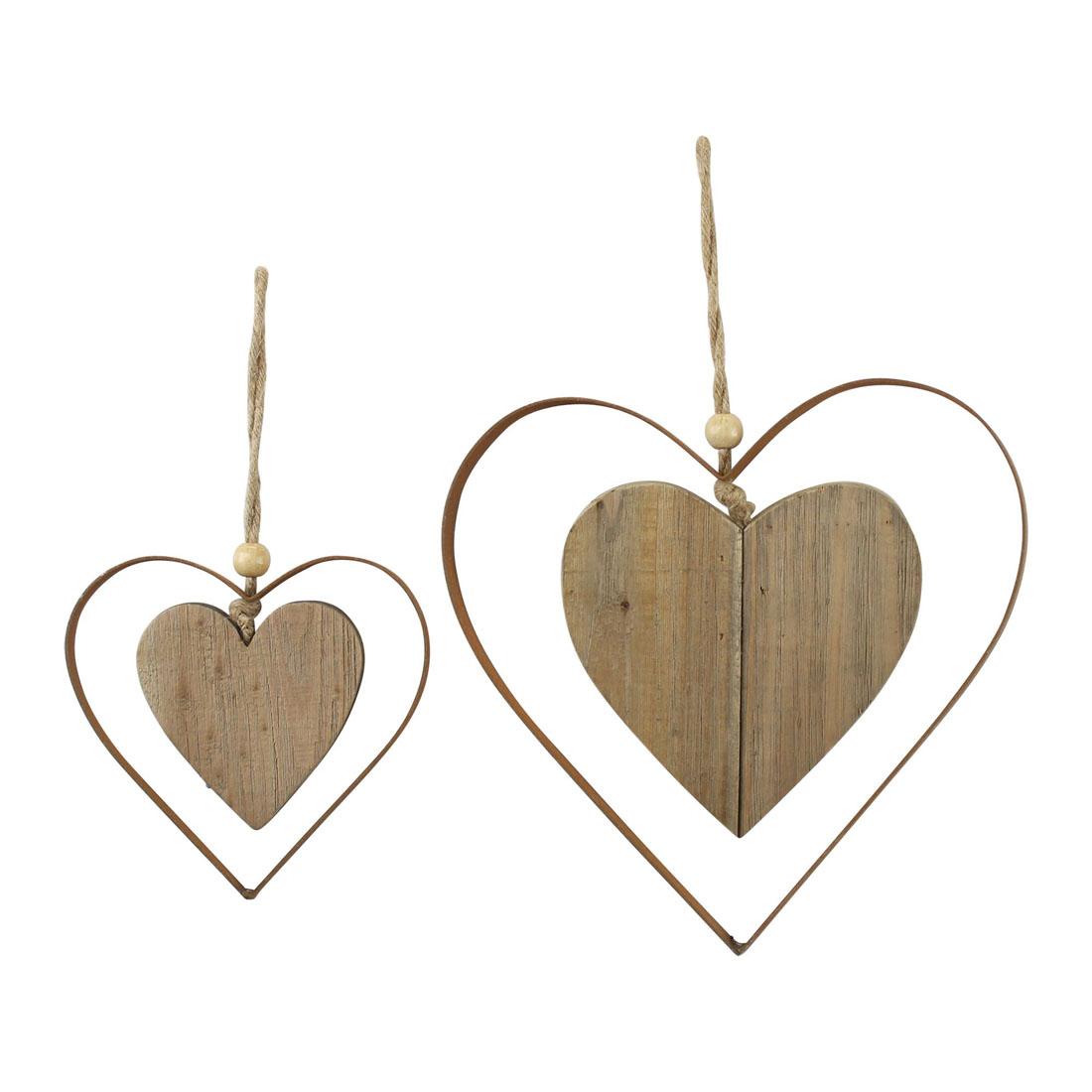 """Подвесные украшения """"Сердечки"""", 2 штуки [07305],"""