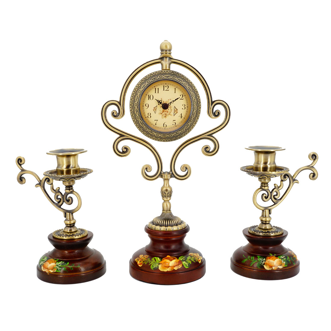 """Настольные часы и 2 подсвечника """"Классика"""" [07327],"""