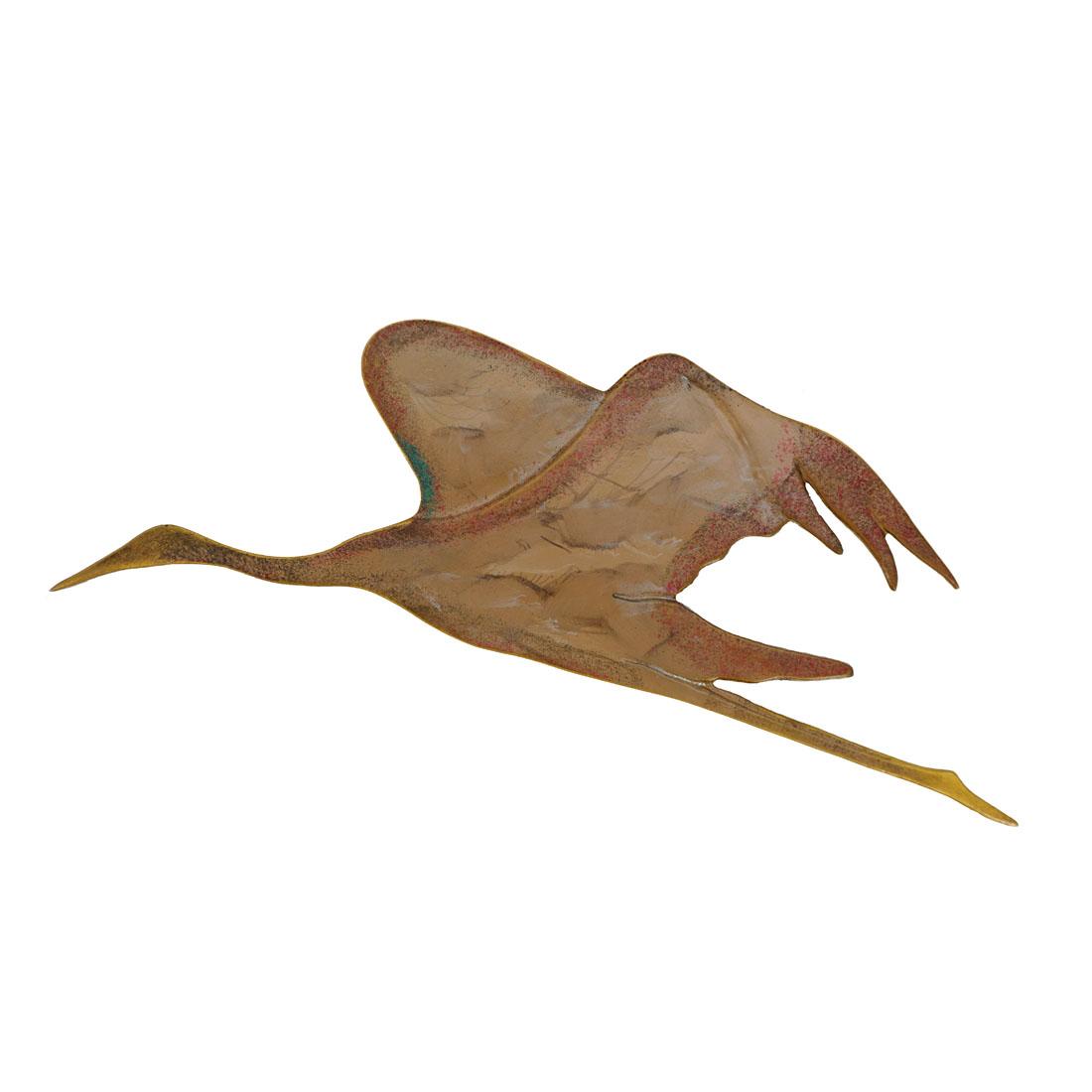"""Настенное украшение """"Журавль - крылья вниз"""" [07341],"""