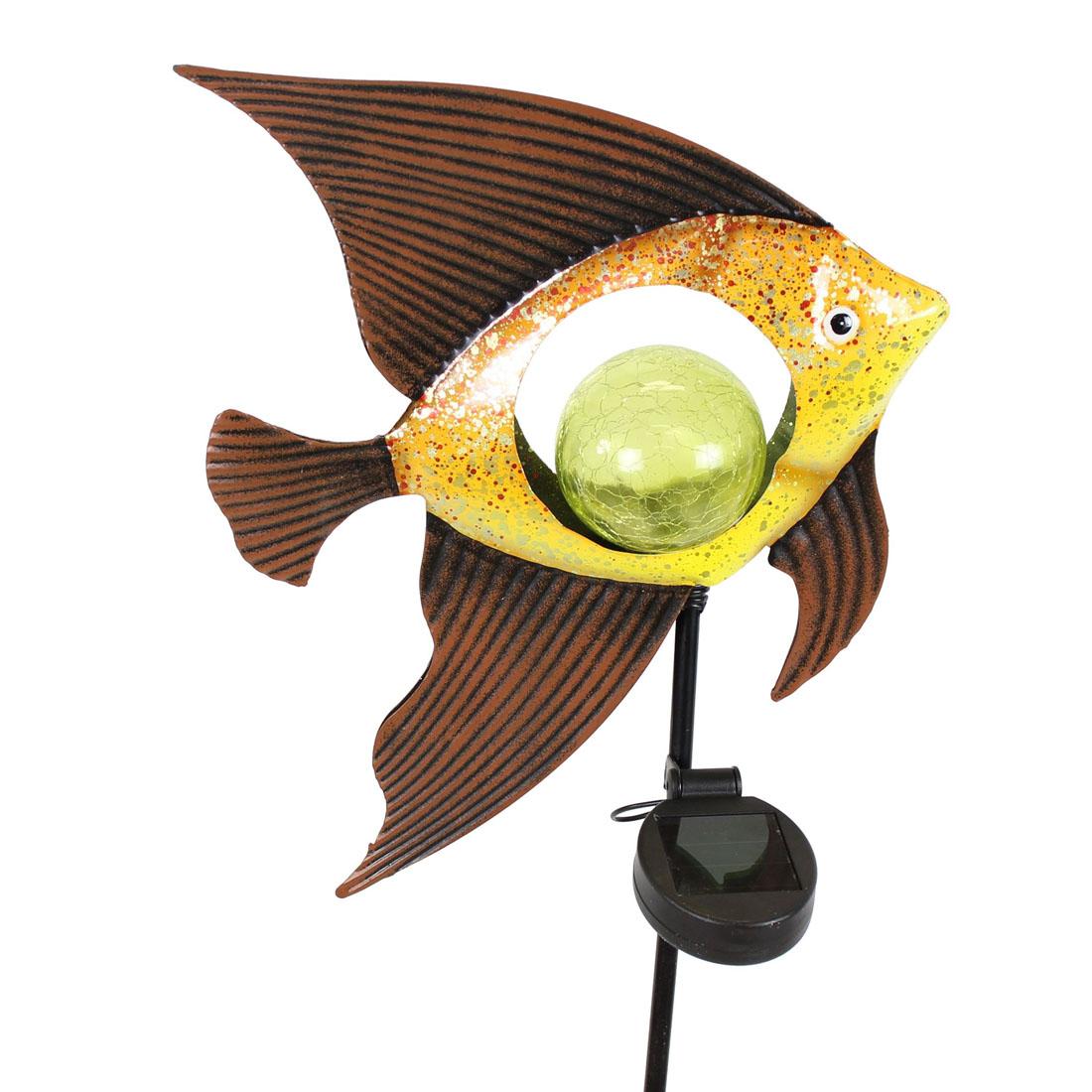 """Декоративный штекер для сада """"Рыбка"""", с подсветкой [07537],"""