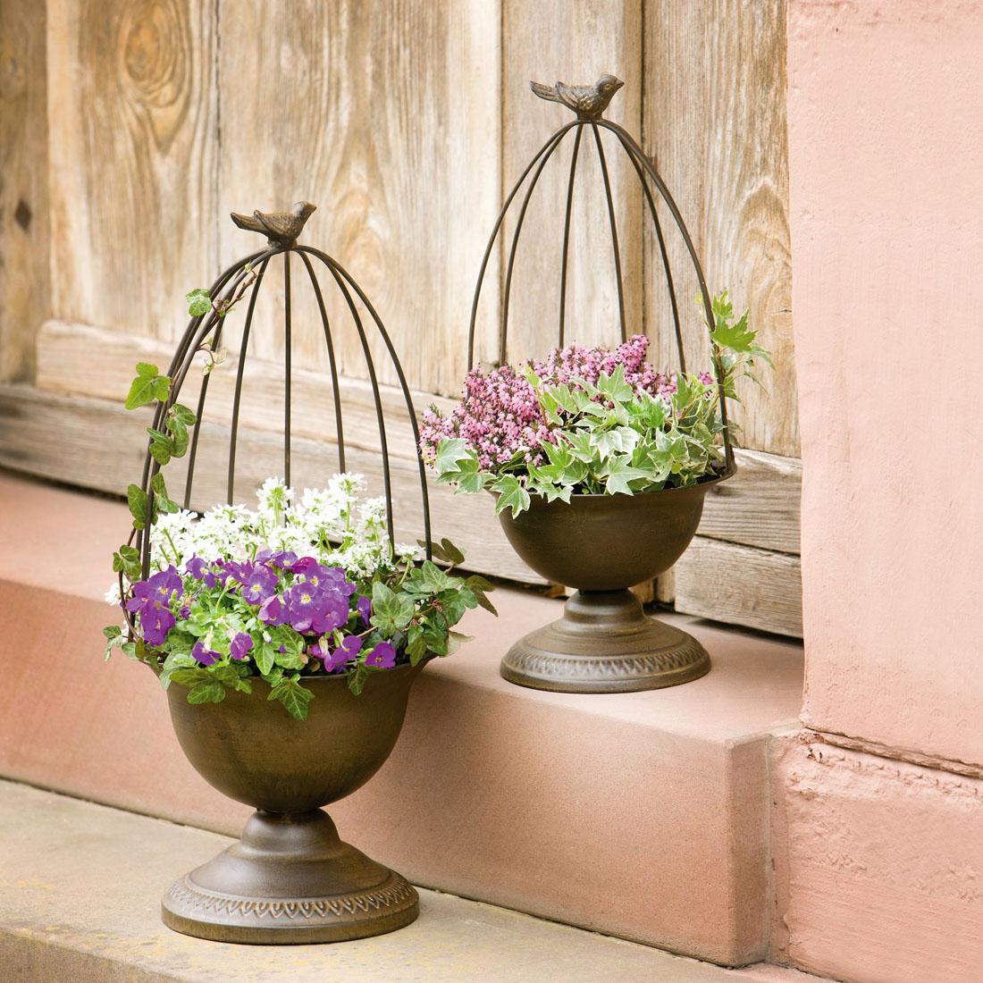 "Кашпо-опора для цветов ""Птички"", 2 штуки [07554],"