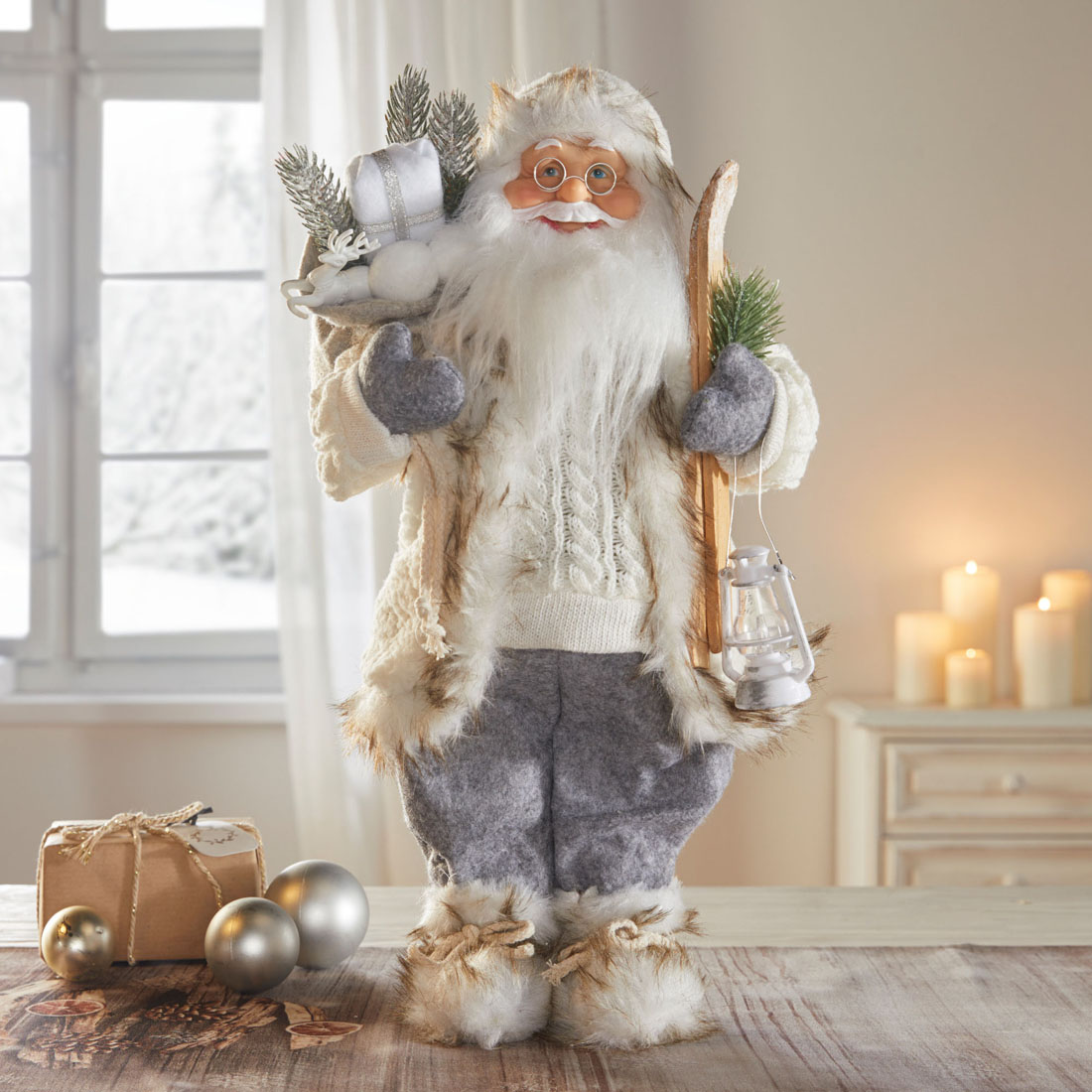"Декоративная фигура ""Санта - зимнее путешествие"" [07605],"