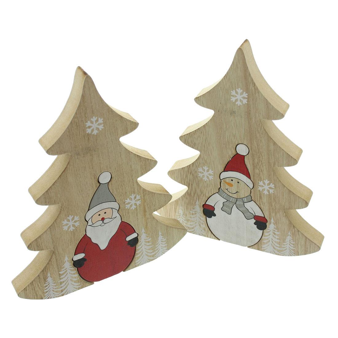 """Декоративные фигуры """"Елочки Санта и снеговик"""" [07647],"""