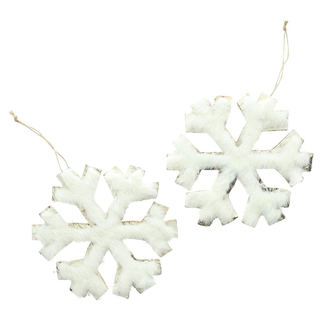 """Подвесные украшения """"Снежинки"""", 2 штуки [07697],"""