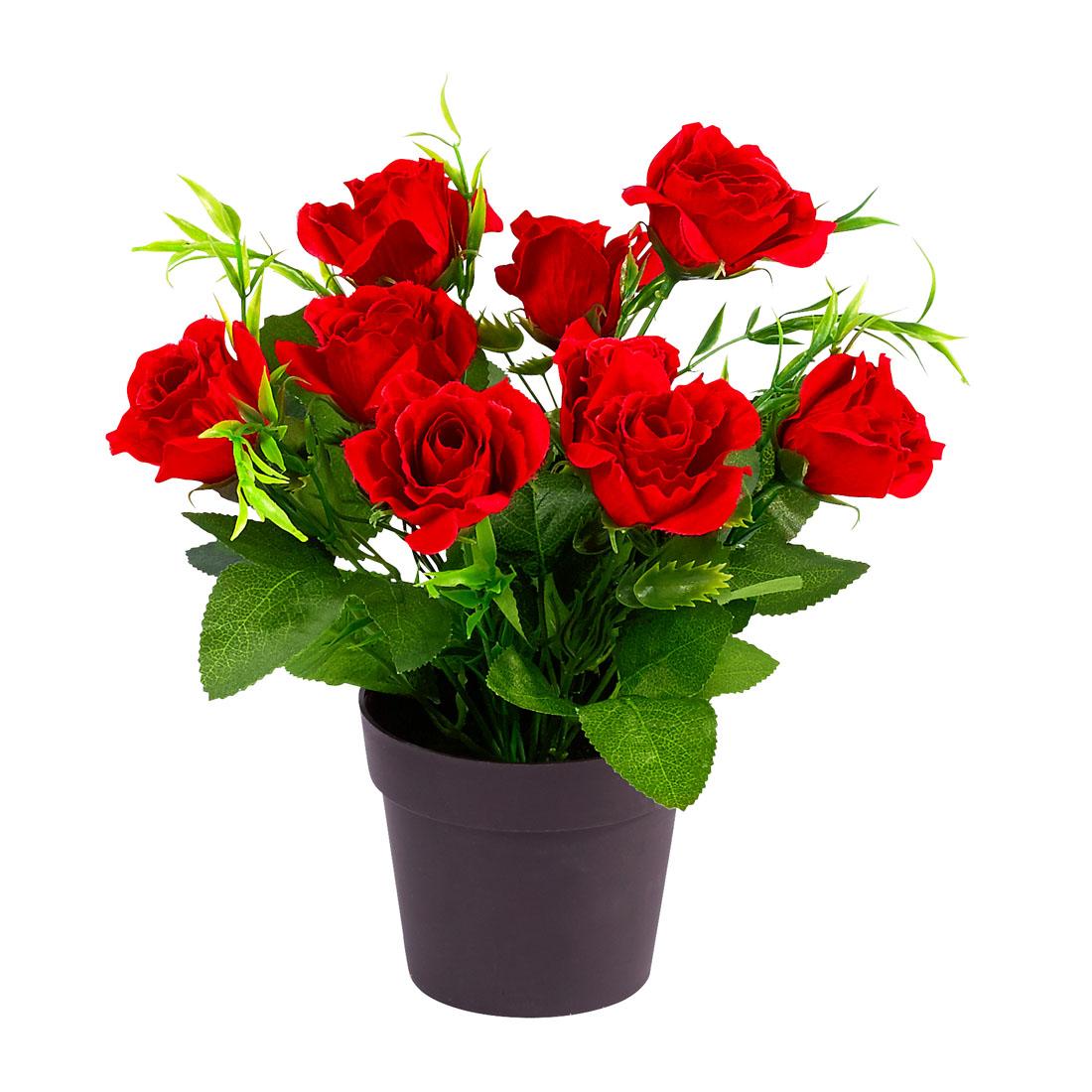 """Декоративный цветок """"Красные розы"""" [07753],"""