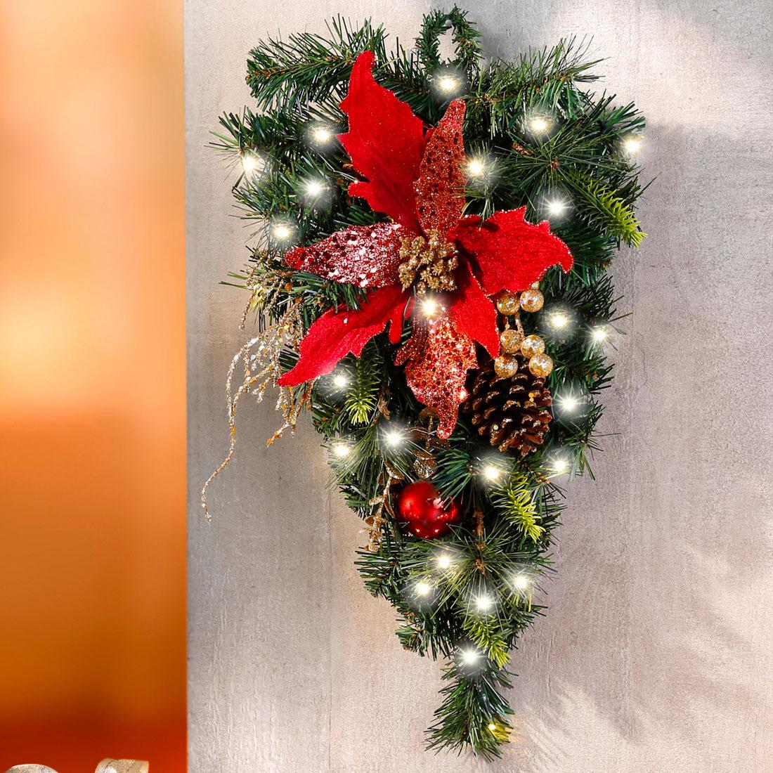 """Настенное украшение с подсветкой """"Рождественская звезда"""" [07787],"""