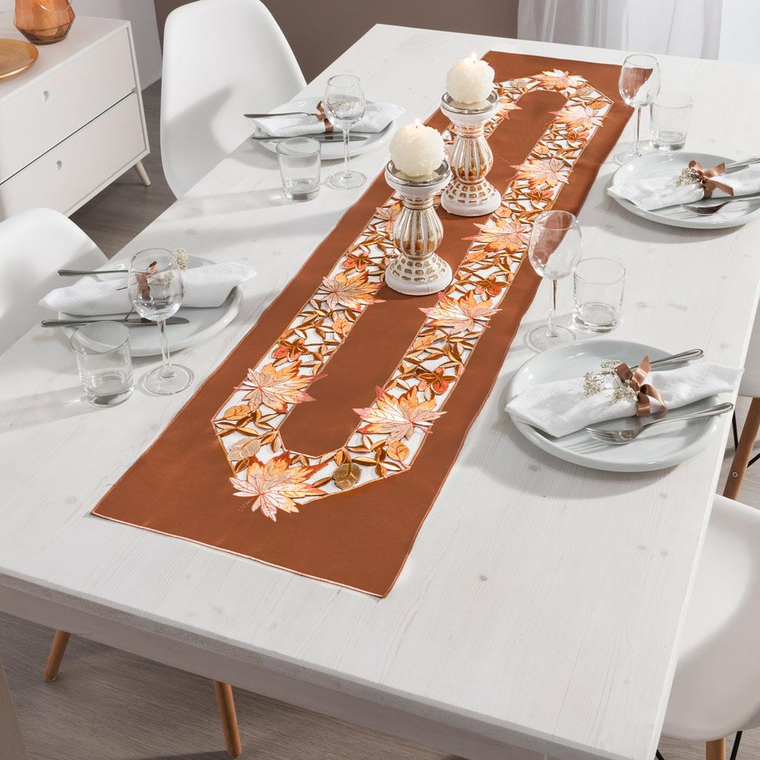 """Дорожка для стола """"Осенняя листва"""" [07817],"""