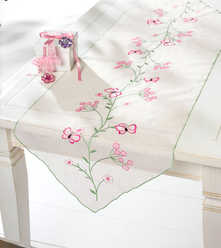 """Дорожка на стол """"Бабочки"""",150х50см [950752] в магазине Интернет-магазин Хит"""