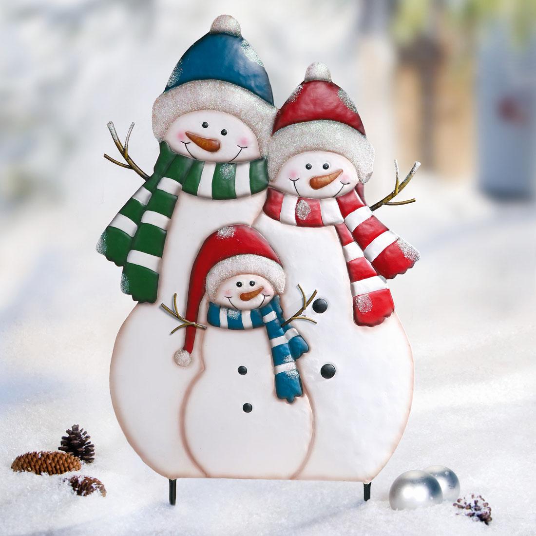 """Декоративный штекер """"Семейство снеговиков"""" [07941],"""