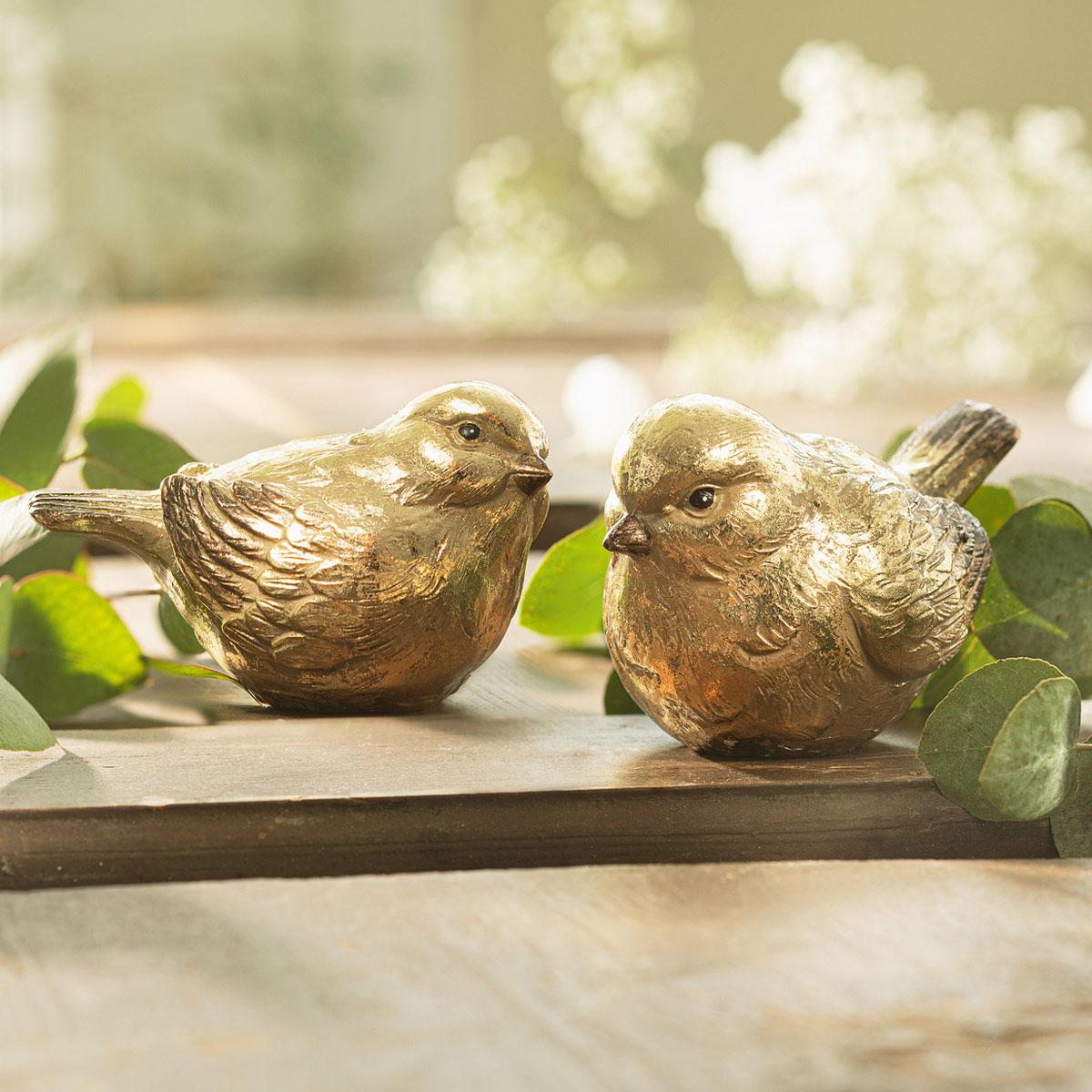 """Декоративные фигуры """"Золотые птички"""", 2 штуки [08043],"""
