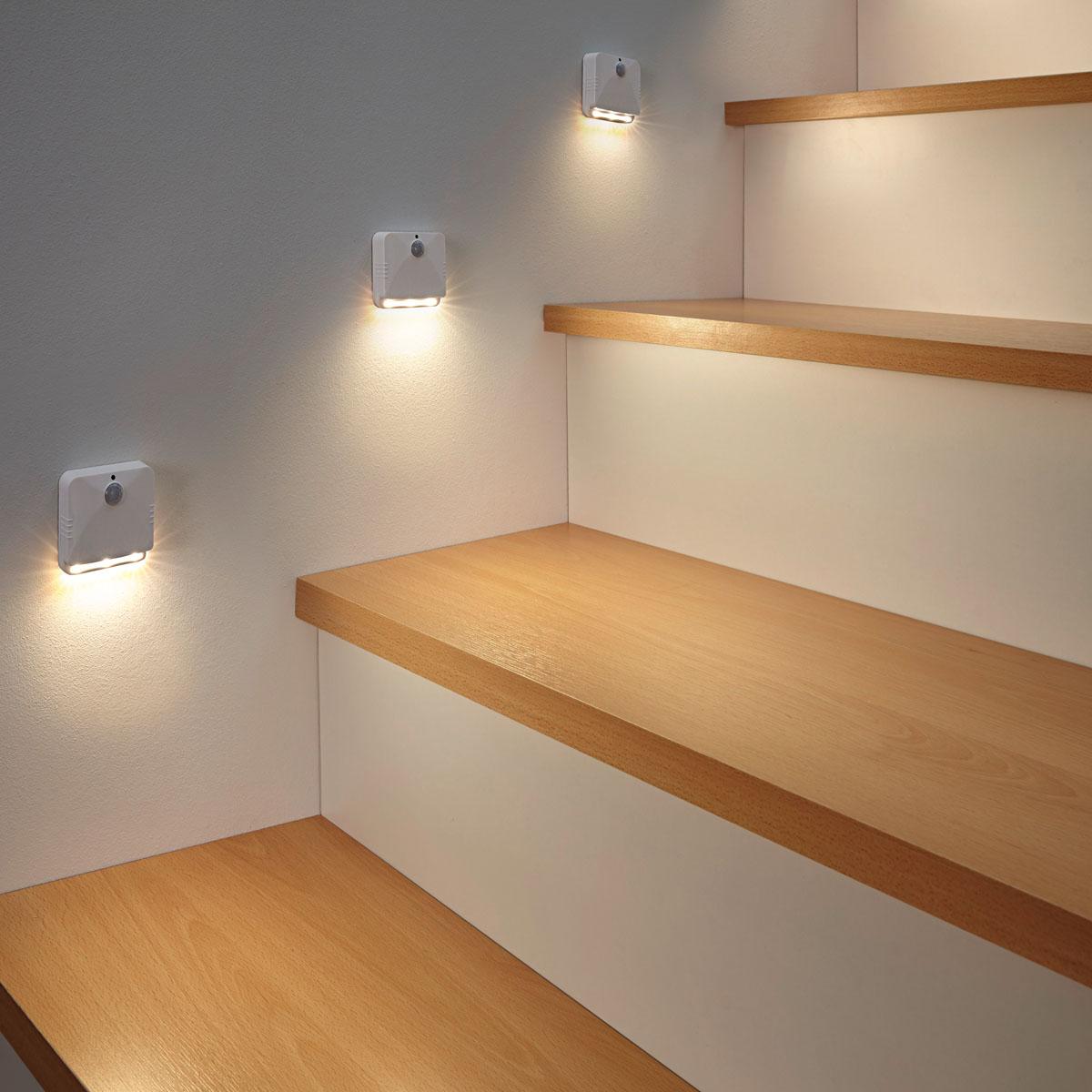 Светильники LED для лестницы, с сенсором движения, 2 штуки [08133],