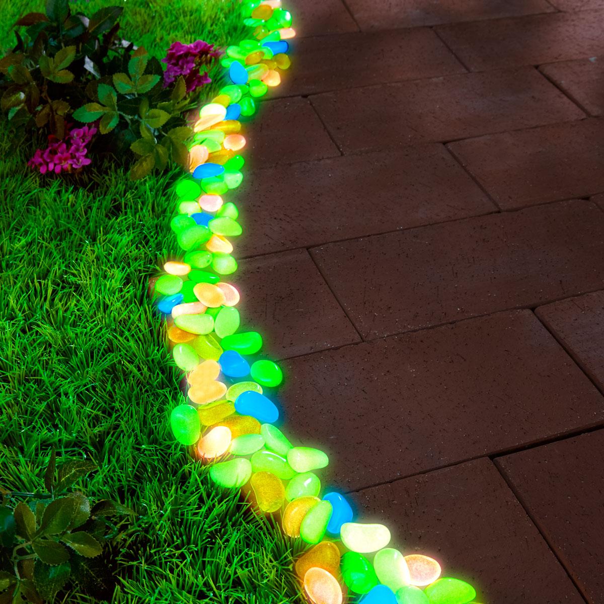 """Светящиеся камешки """"Разноцветные"""" 100 штук [08194],"""