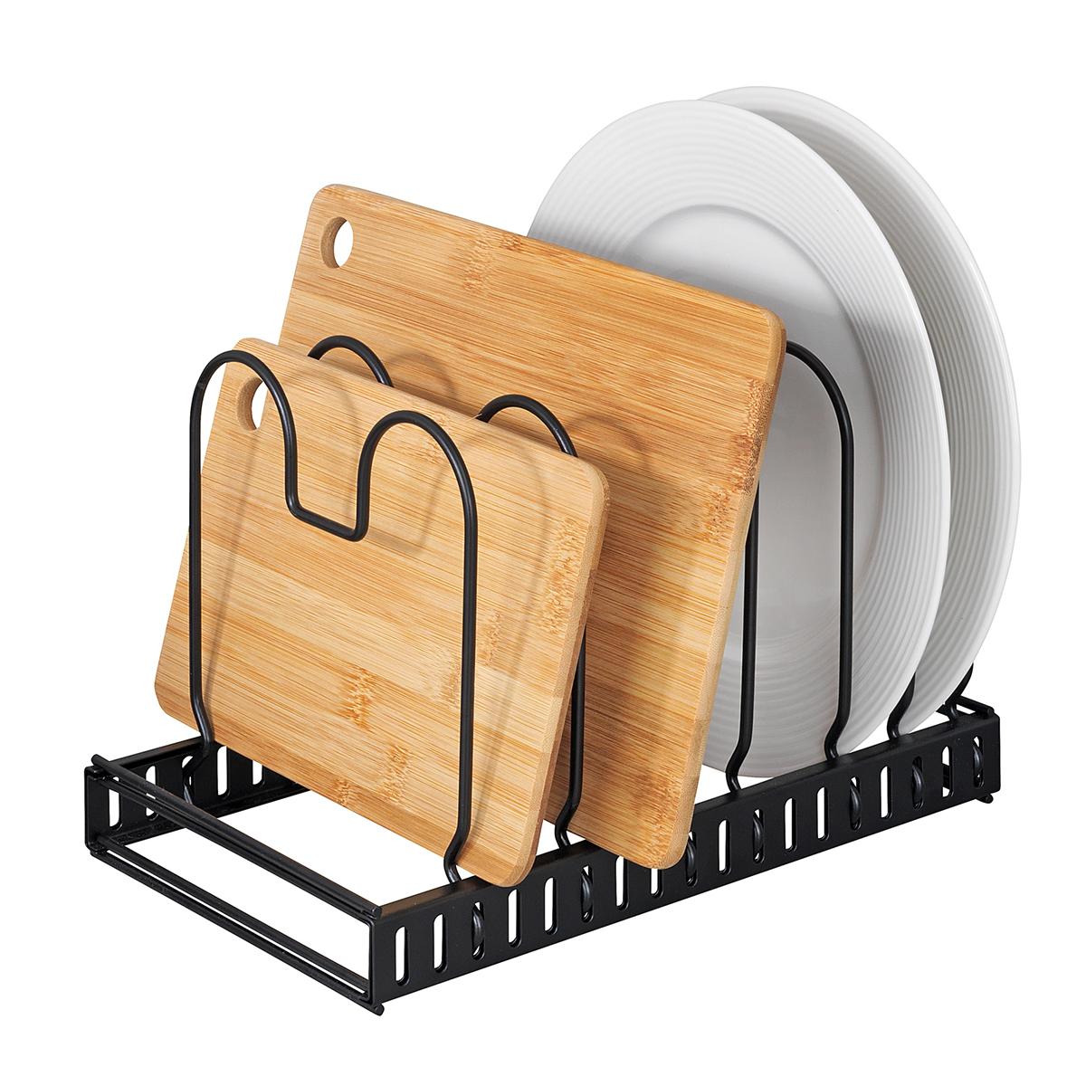 Держатель для крышек и сковородок, раздвижной [08235],