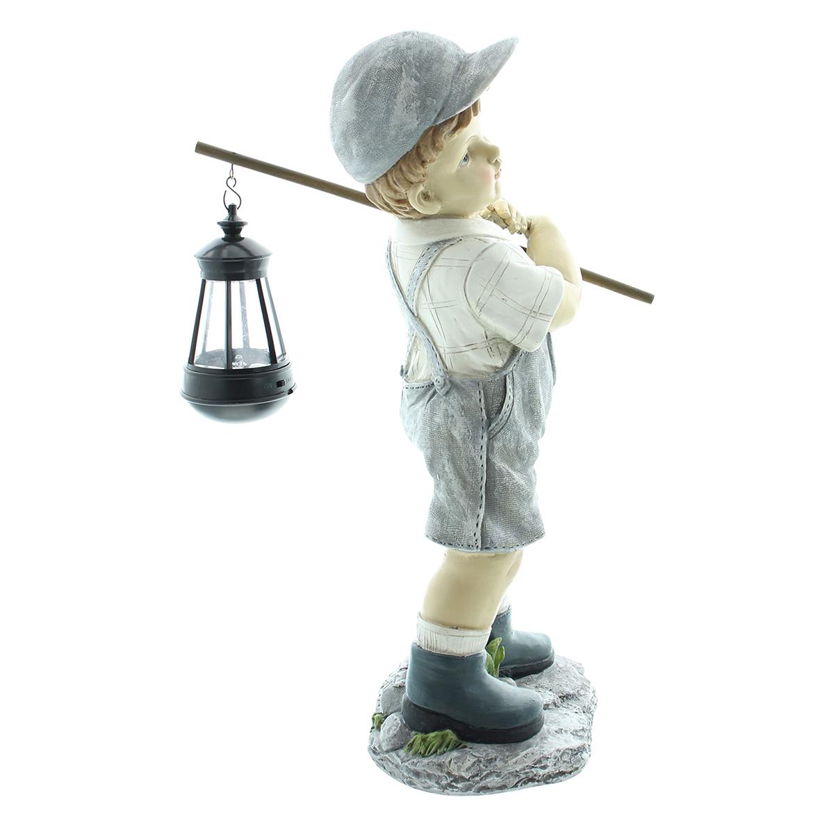 """Декоративная фигура с солнечным светильником """"Мальчик с фонариком"""" [08303],"""