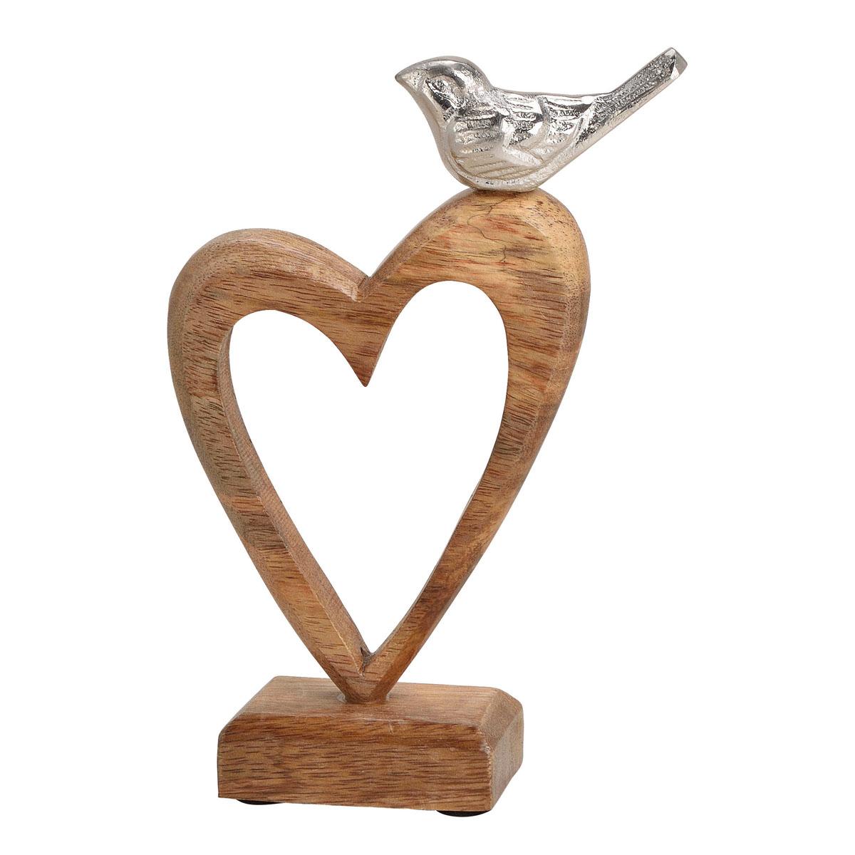 """Декоративная фигура """"Сердце с птичкой"""" [08323],"""