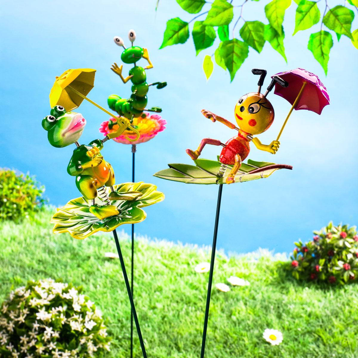 """Декоративные садовые штекеры """"Веселая компания"""" 3 штуки [08326],"""