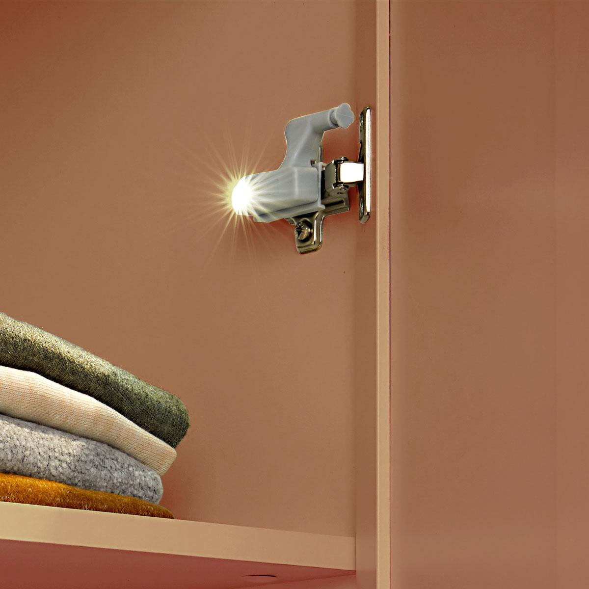 Светильники на петли дверей шкафа, 4 штуки [08340],