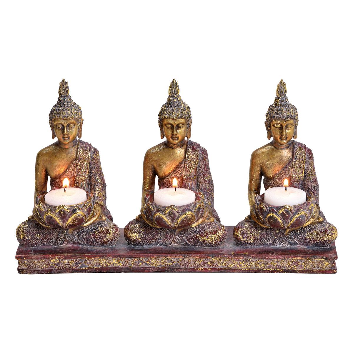 """Подсвечник """"Будды трех времен"""", 3 свечи [08426],"""