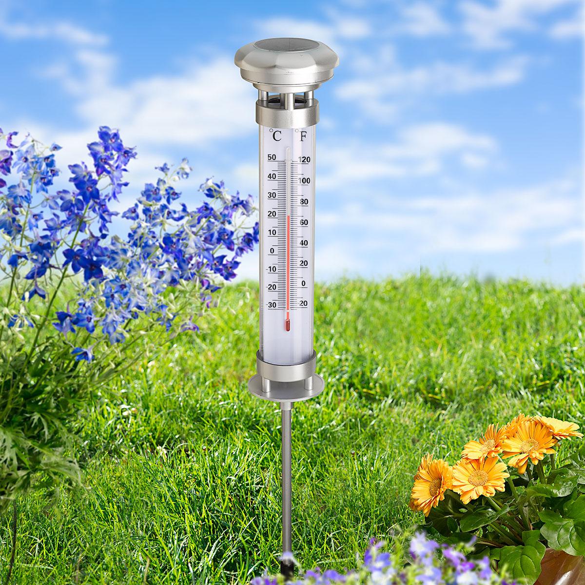"""Садовый термометр с солнечным светильником """"XL Solar"""" [08464],"""