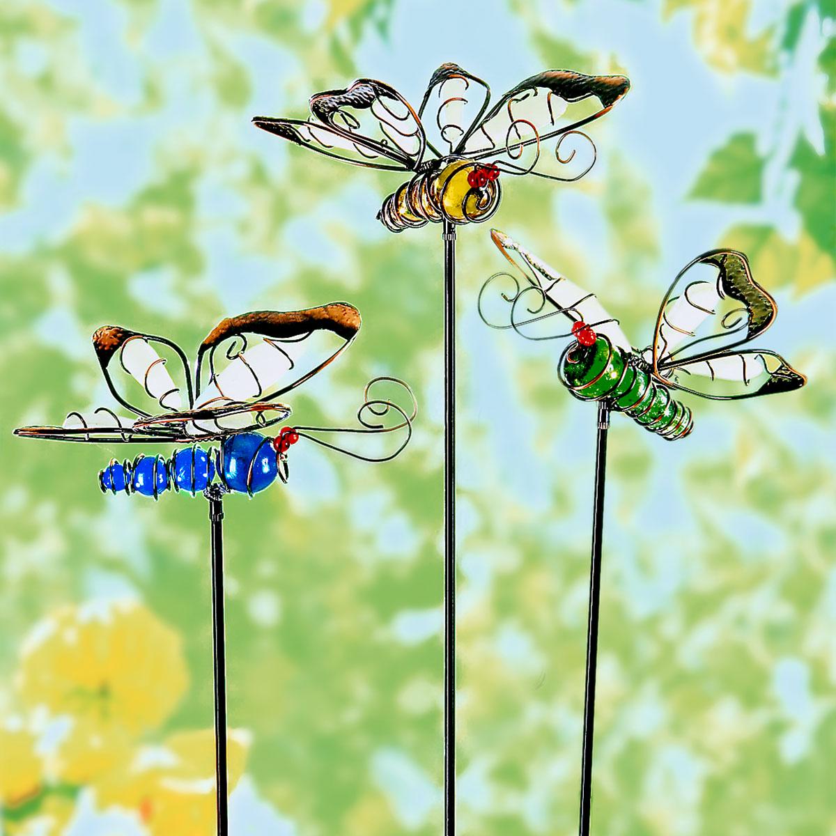 """Декоративные штекеры  """"Светящиеся бабочки"""", 3 штуки [08477],"""
