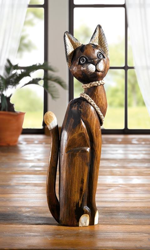 """Кошка """"Шарлота"""" деревянная В 60см"""