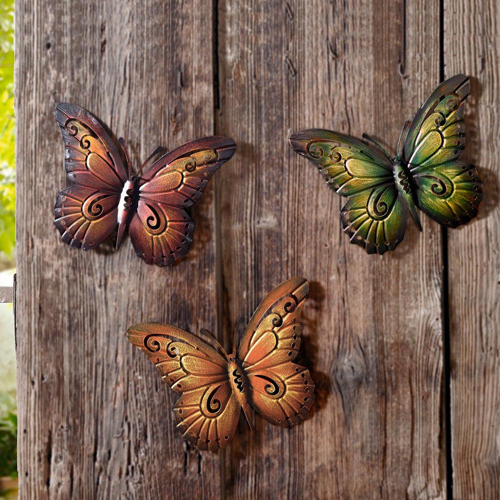 """Подвесные украшения """"Бабочки"""" 3шт."""