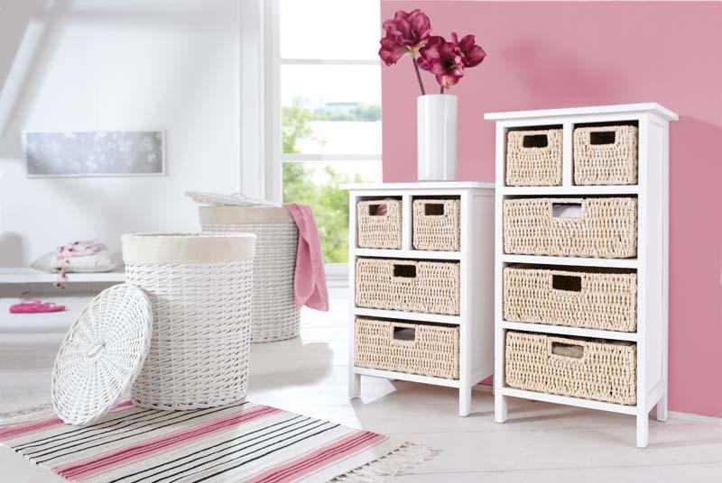 Стеллаж с 4 ящиками белый [02251] в магазине Интернет-магазин Хит