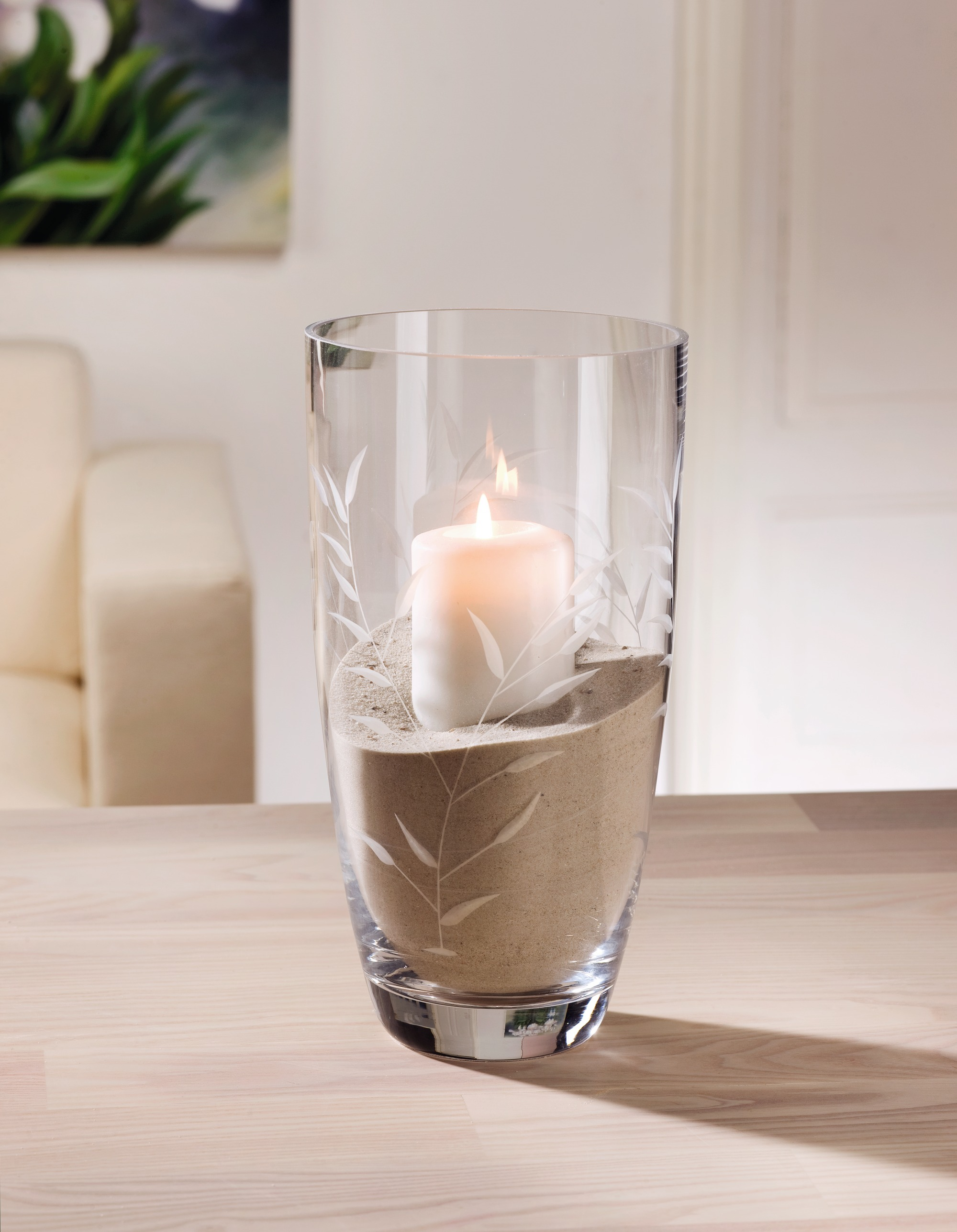 "Ваза - подсвечник ""Бамбук"", стекло [03408] Подсвечник ""Бамбук"", стекло"