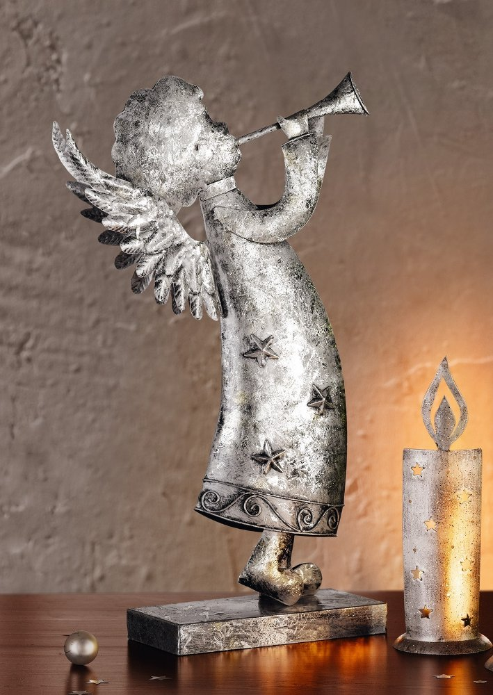 """Декоративная фигура ангела """"Блеск серебра"""""""