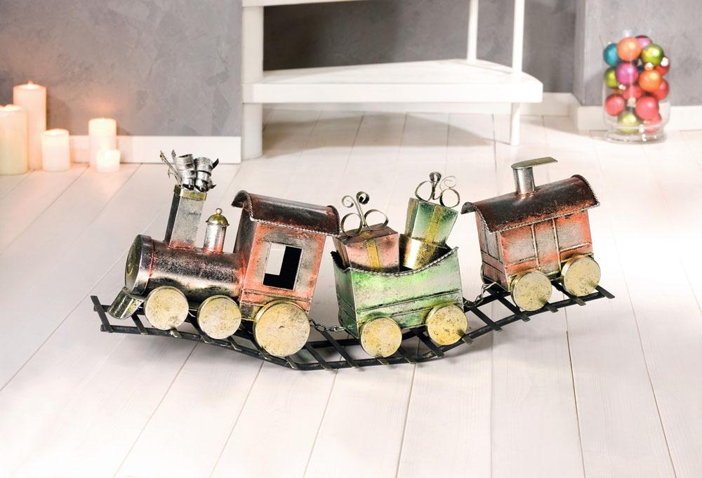 """Декоративная фигура """"Веселый поезд"""", длина 74 см [03576] Рождественский поезд"""
