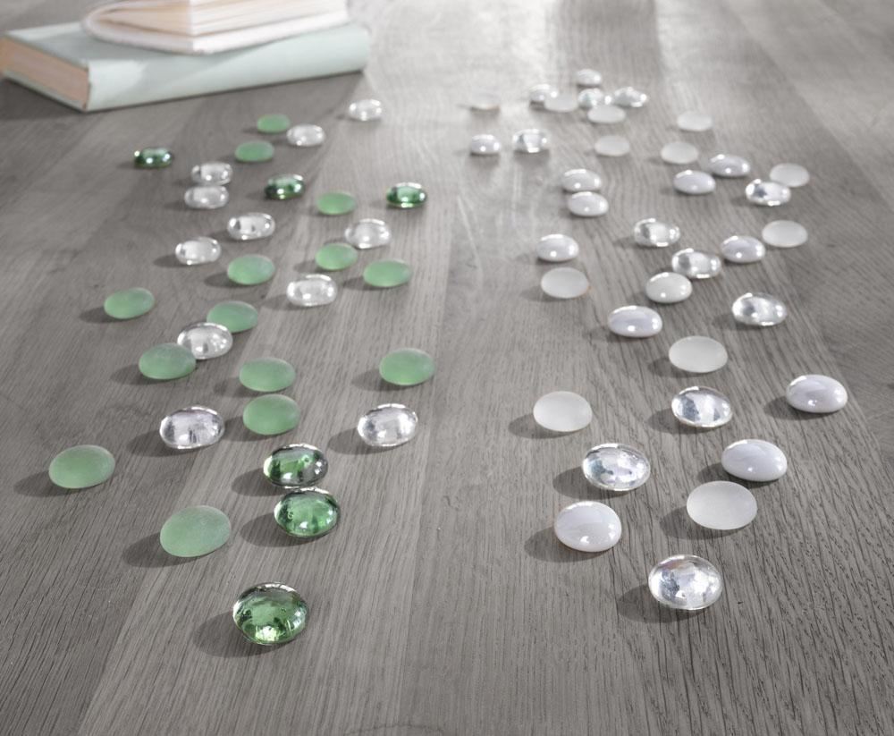 """Декоративные стеклянные камушки """"Зеленые"""""""