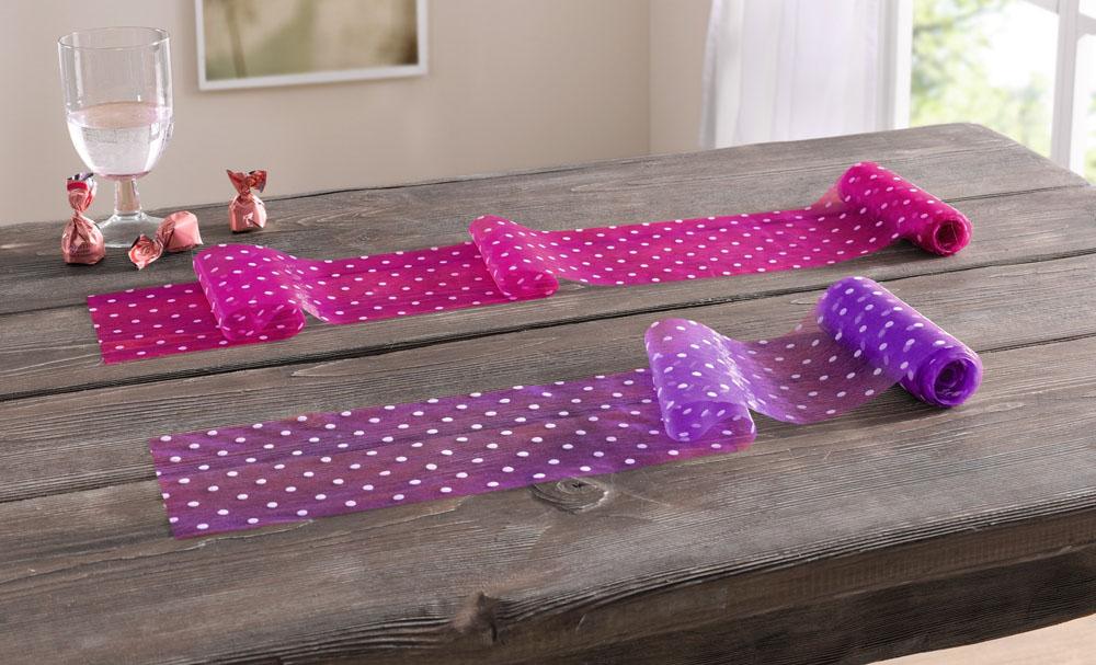 """Декоративный материал """"Розовый и пурпурный"""" набор 2 шт."""