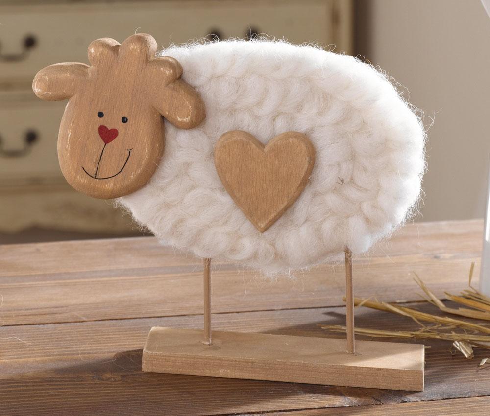 """Декоративная овечка """"Сердечко"""" В 18см"""