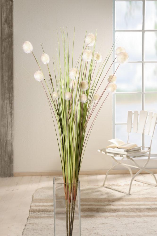 """Декоративные цветы """"Белые шары"""", 4 штуки [03816]"""