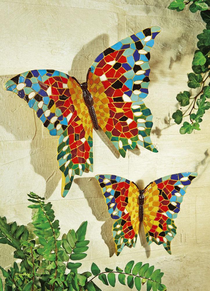 """Настенные украшения """"Бабочки мозаика"""" 2шт."""