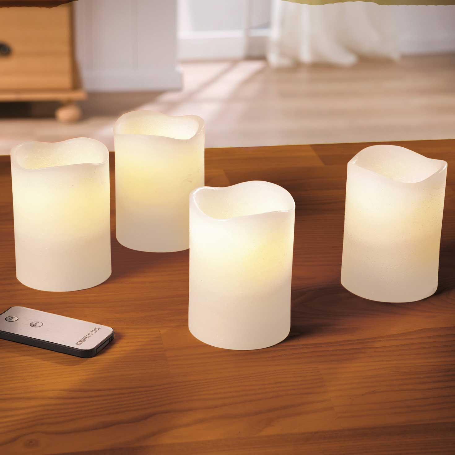 """Свечи со светодиодами """"Долгое свечение"""", 4шт."""