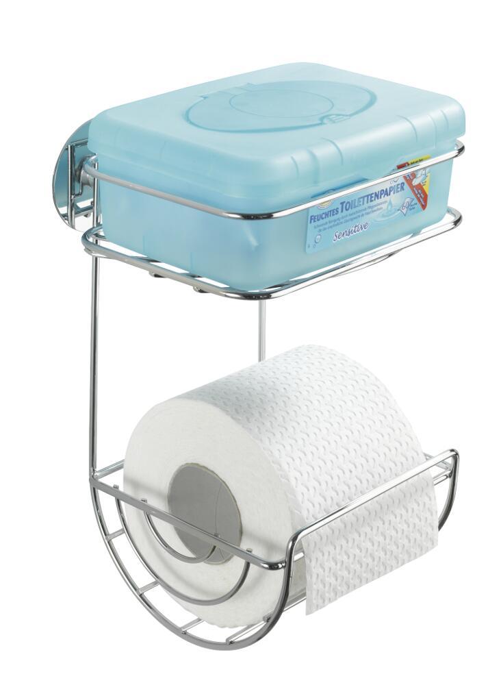 Держатель для туалетной бумаги с полочкой Turbo - Loc