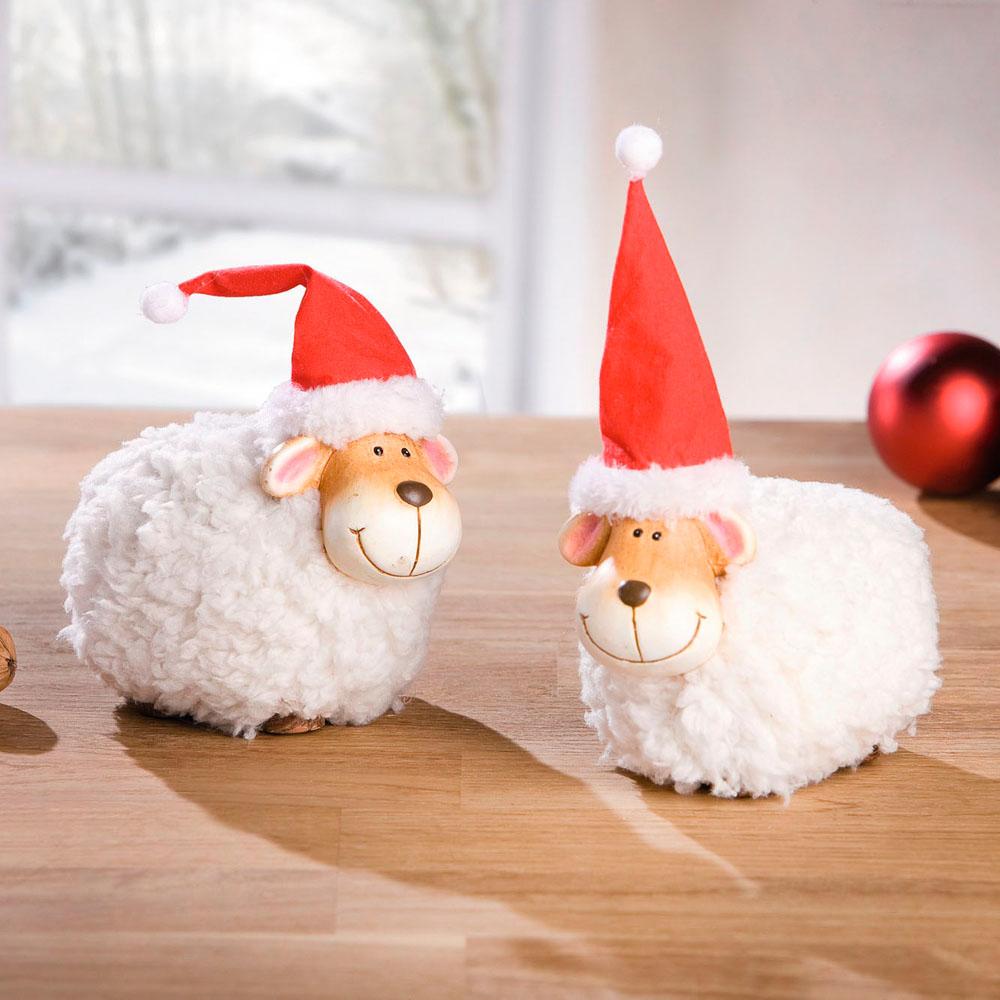 """Декоративные фигурки """"Рождественские овечки"""" 2 шт."""