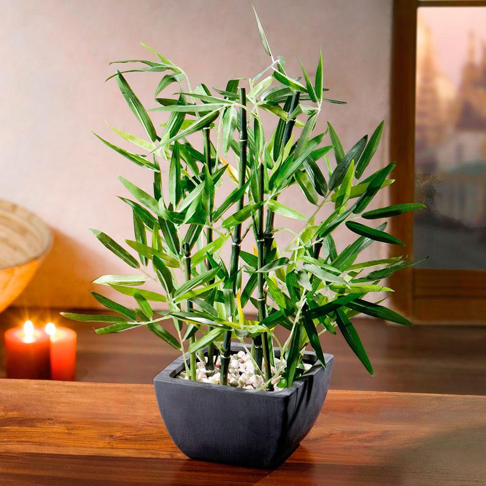 """Декоративное растение """"Бамбук в кашпо"""" В122см"""