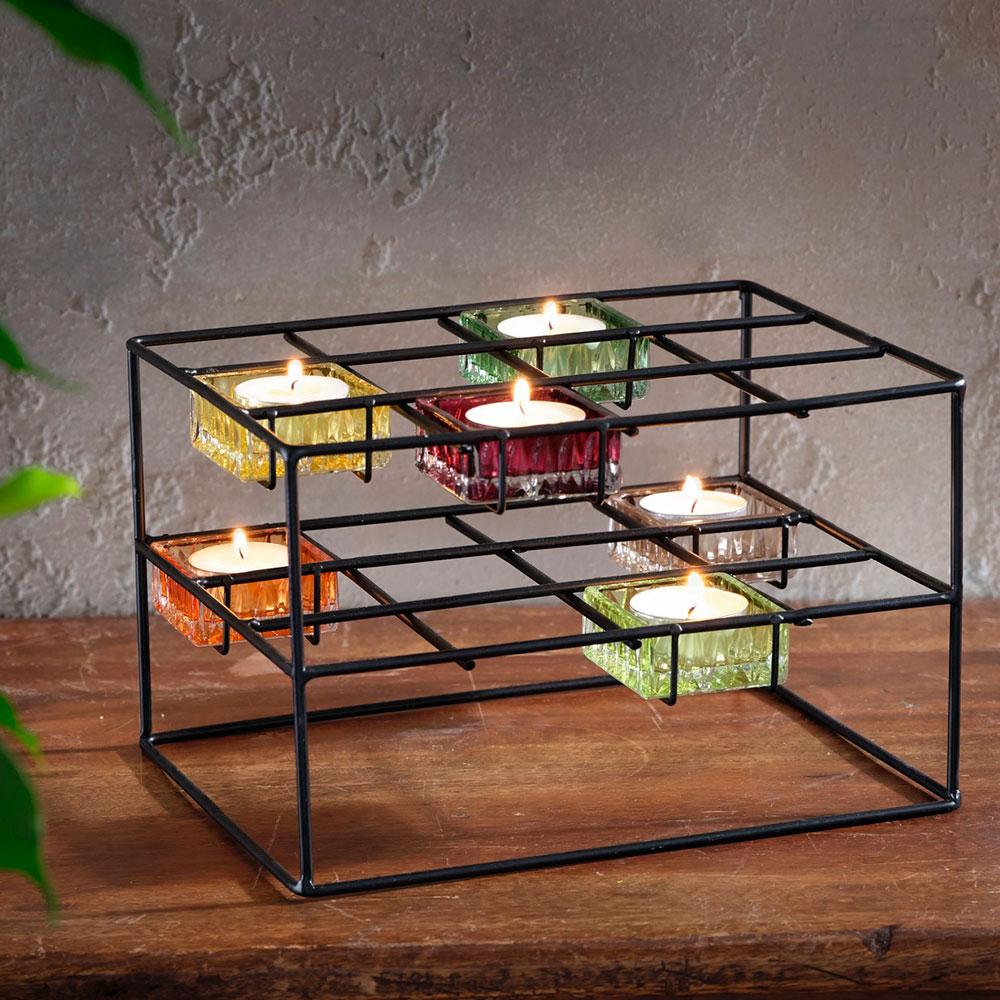 """Подсвечник """"Цветные кубы"""", 7 предметов"""
